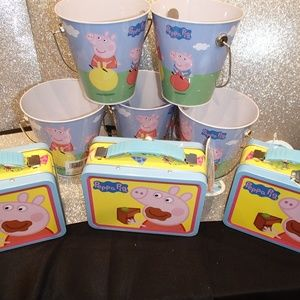 Other - BIRTHDAY PARTY FAVORS PEPPA PIG TIN BOX SET OF 8